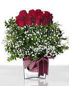 Bursa yurtiçi ve yurtdışı çiçek siparişi  11 adet gül mika yada cam - anneler günü seçimi -