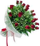 Bursa çiçek yolla  11 adet kirmizi gül buketi sade ve hos sevenler