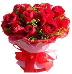 9 adet kirmizi güllerden kipkirmizi buket  Bursa çiçek gönderme