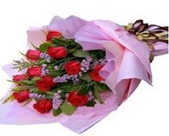 11 adet kirmizi güllerden görsel buket  Bursa çiçek online çiçek siparişi