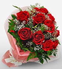 12 adet kırmızı güllerden kaliteli gül  Bursa çiçek satışı