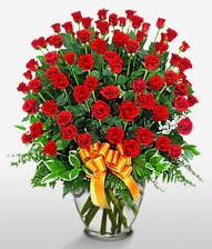 Görsel vazo içerisinde 101 adet gül  Bursa ucuz çiçek gönder