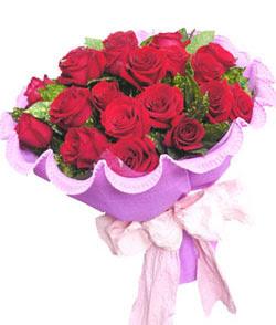 12 adet kırmızı gülden görsel buket  Bursa İnternetten çiçek siparişi