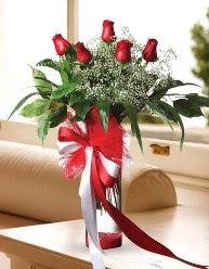 Camda 5 kırmızı gül tanzimi  Bursa kaliteli taze ve ucuz çiçekler