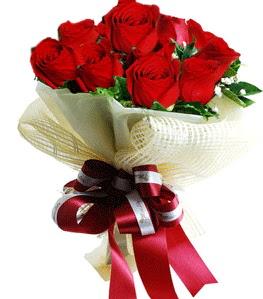 9 adet kırmızı gülden buket tanzimi  Bursa çiçek online çiçek siparişi