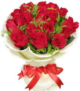 19 adet kırmızı gülden buket tanzimi  Bursa çiçek siparişi vermek