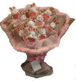 12 adet tavşan buketi  Bursa online çiçek gönderme sipariş