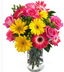Vazoda Karışık mevsim çiçeği  Bursa İnternetten çiçek siparişi