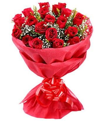 21 adet kırmızı gülden modern buket  Bursa çiçek mağazası , çiçekçi adresleri