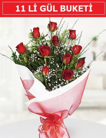 11 adet kırmızı gül buketi Aşk budur  Bursa çiçek online çiçek siparişi