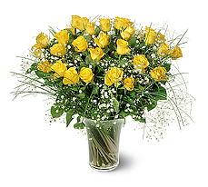 Bursa çiçek gönderme sitemiz güvenlidir  15 adet sarigül mika yada cam vazoda