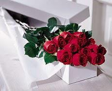 Bursa güvenli kaliteli hızlı çiçek  özel kutuda 12 adet gül