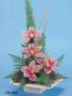 Bursa kaliteli taze ve ucuz çiçekler  vazoda 4 adet orkide