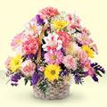 Bursa çiçekçi mağazası  sepet içerisinde gül ve mevsim