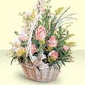 Bursa çiçek siparişi sitesi  sepette pembe güller