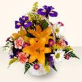 Bursa çiçek siparişi sitesi  sepet içinde karisik çiçekler