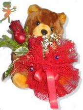 oyuncak ayi ve gül tanzim  Bursa çiçek gönderme