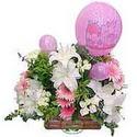 balon ve çiçeklerle tanzim  Bursa çiçek yolla