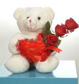 3 adetgül ve oyuncak   Bursa 14 şubat sevgililer günü çiçek