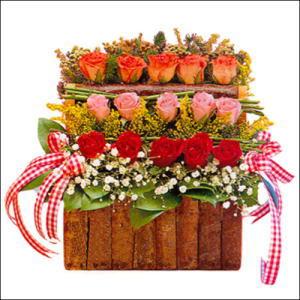 sandikta 3 kat güllerden   Bursa hediye çiçek yolla