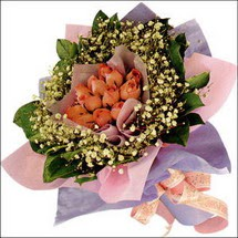 11  adet  gül ve   elyaflar   Bursa İnternetten çiçek siparişi
