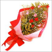 12 adet renkli  gül buketi   Bursa İnternetten çiçek siparişi