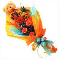 ayicik gül ve kir çiçekleri   Bursa İnternetten çiçek siparişi
