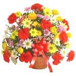 karisik renkli çiçek sepet   Bursa çiçek online çiçek siparişi