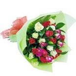 12 adet renkli gül buketi   Bursa çiçek online çiçek siparişi