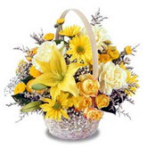 sadece sari çiçek sepeti   Bursa çiçek online çiçek siparişi