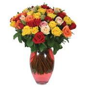 51 adet gül ve kaliteli vazo   Bursa çiçek online çiçek siparişi