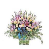 sepette kazablanka ve güller   Bursa çiçek mağazası , çiçekçi adresleri