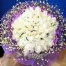 71 adet beyaz gül buketi   Bursa yurtiçi ve yurtdışı çiçek siparişi