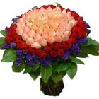 71 adet renkli gül buketi   Bursa online çiçekçi , çiçek siparişi