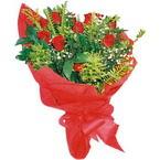 10 adet kirmizi gül buketi  Bursa çiçek servisi , çiçekçi adresleri