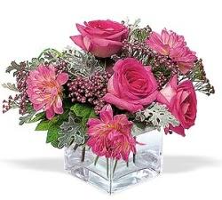 Bursa hediye çiçek yolla  cam içerisinde 5 gül 7 gerbera çiçegi
