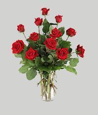 Bursa hediye çiçek yolla  11 adet kirmizi gül vazo halinde