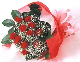 12 adet kirmizi gül buketi  Bursa ucuz çiçek gönder