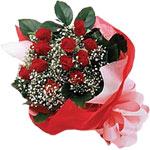Bursa çiçek yolla  KIRMIZI AMBALAJ BUKETINDE 12 ADET GÜL