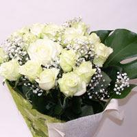 Bursa çiçek yolla , çiçek gönder , çiçekçi   11 adet sade beyaz gül buketi