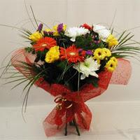 Bursa çiçek yolla , çiçek gönder , çiçekçi   Karisik mevsim demeti