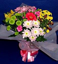 Bursa çiçek yolla , çiçek gönder , çiçekçi   küçük karisik mevsim demeti
