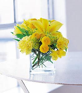 Bursa online çiçekçi , çiçek siparişi  sarinin sihri cam içinde görsel sade çiçekler
