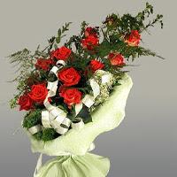 Bursa online çiçekçi , çiçek siparişi  11 adet kirmizi gül buketi sade haldedir