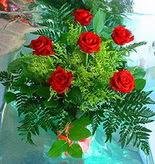 6 adet kirmizi gül buketi   Bursa çiçek , çiçekçi , çiçekçilik