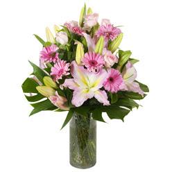 vazo içerisinde karisik mevsim çiçekleri  Bursa çiçekçi telefonları