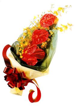 özel 5 adet antorium buketi   Bursa çiçek online çiçek siparişi