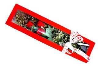 Bursa çiçek yolla , çiçek gönder , çiçekçi   Kutuda 3 adet gül