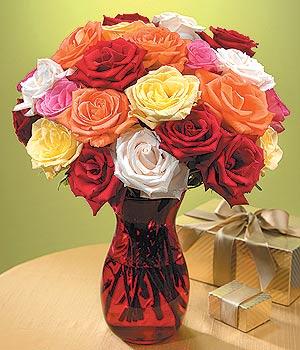 Bursa internetten çiçek satışı  13 adet renkli gül