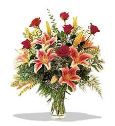 Bursa çiçek siparişi vermek  Pembe Lilyum ve Gül